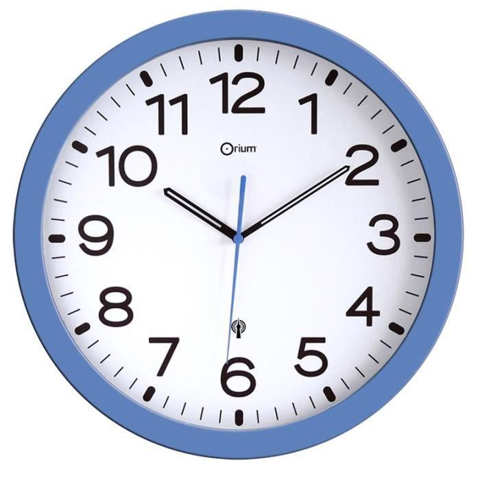 Pendule rc bleue 30cm pile orium 11697 achat vente horloge soldes cdiscount - Horloge orium led bleue ...