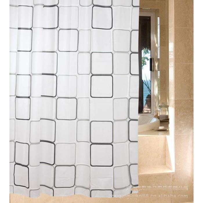noir et blanc damiers rideau de douche imperm able rideau de douche rideau de douche salle de. Black Bedroom Furniture Sets. Home Design Ideas
