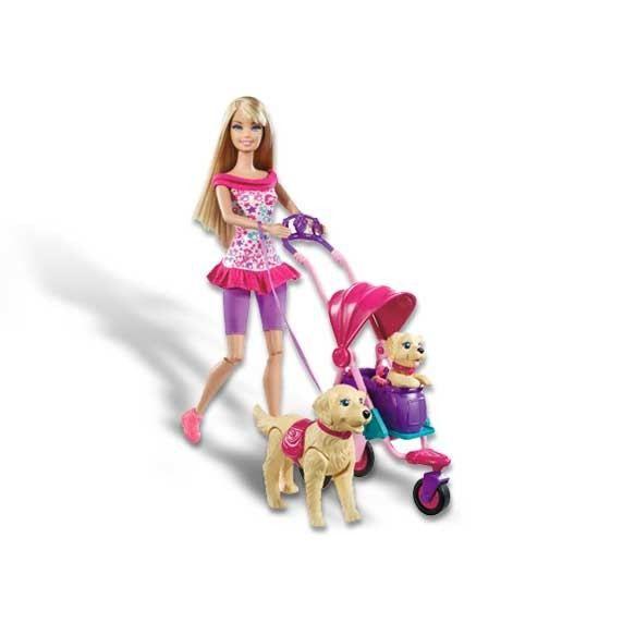 Barbie balade avec ses chiens achat vente poup e - Carrosse barbie ...