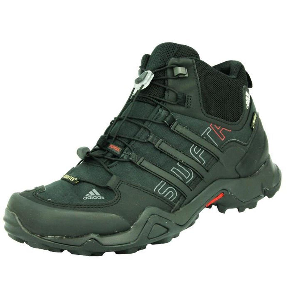 adidas performance terrex swift trx mid gtx chaussures de course trail running homme noir gore. Black Bedroom Furniture Sets. Home Design Ideas