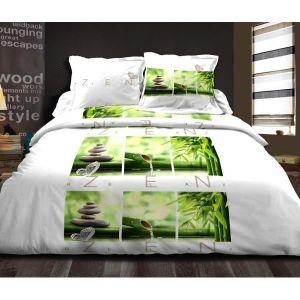 housse de couette zen achat vente housse de couette zen pas cher les soldes sur cdiscount. Black Bedroom Furniture Sets. Home Design Ideas