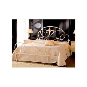 lit en fer avec sommier achat vente lit en fer avec sommier pas cher cdiscount. Black Bedroom Furniture Sets. Home Design Ideas