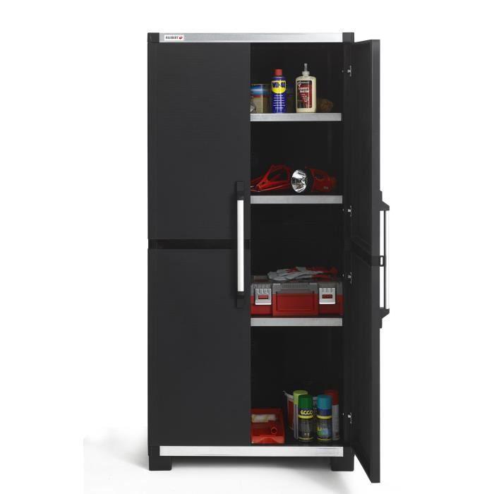 Allibert armoire de rangement haute xl pro 187 cm achat vente etabli me - Cdiscount armoire de rangement ...