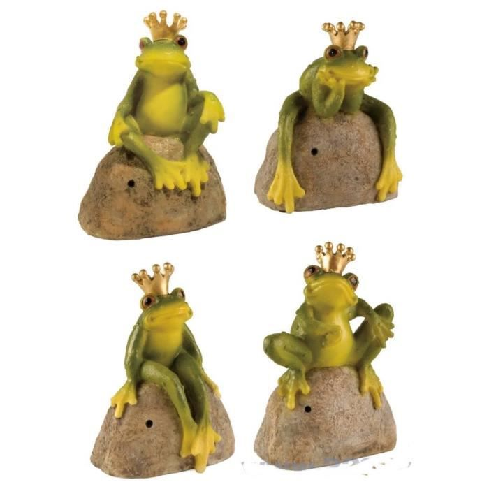 Lot de 4 grenouille sifflant decoration jardin nain for Grenouille jardin deco