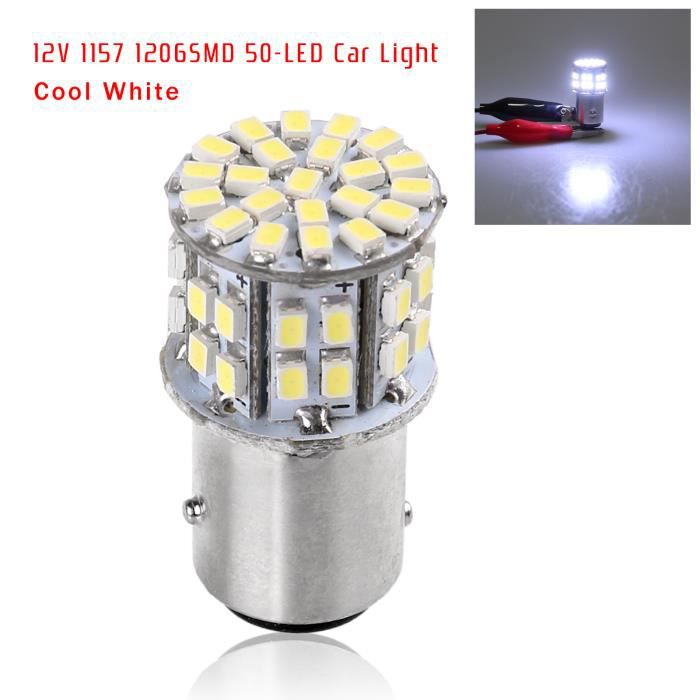 12v 5w 1157 bay15d smd 50 led voiture tail frein tournez signal lumineux antibrouillard ampoule. Black Bedroom Furniture Sets. Home Design Ideas