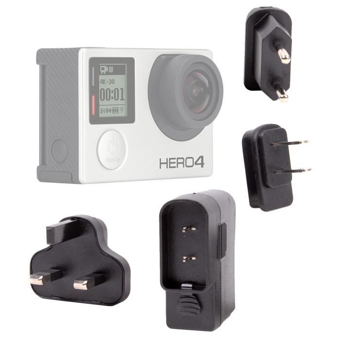 chargeur usb mondial pour cam ra gopro 4 hero 4 prix. Black Bedroom Furniture Sets. Home Design Ideas