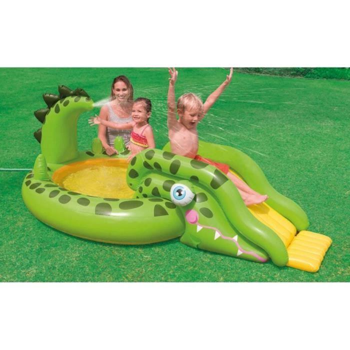 Aire de jeu gonflable intex crocodile piscine pour for Aire de jeu gonflable piscine