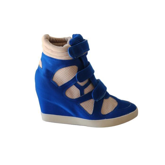 basket lectrique talon asli bleu femme bleu achat vente basket talon asli bleu. Black Bedroom Furniture Sets. Home Design Ideas
