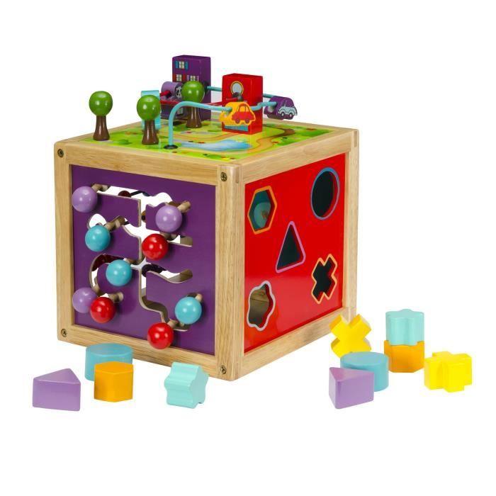 cubes d 39 activit s en bois achat vente cube veil cubes d 39 activit s en bois cdiscount. Black Bedroom Furniture Sets. Home Design Ideas