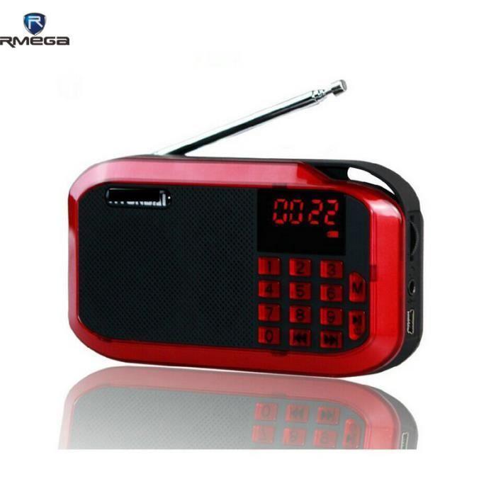 Rmega portable fm num rique radio num rique mini haut for Radio numerique portable