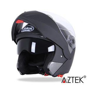 CASQUE MOTO SCOOTER AZTEK® Casque moto scooter modulable 63cm-64cm dem