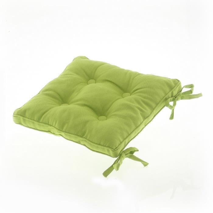 Star galette boutons 39x39 cm achat vente coussin de - Galette de chaise avec rabat ...