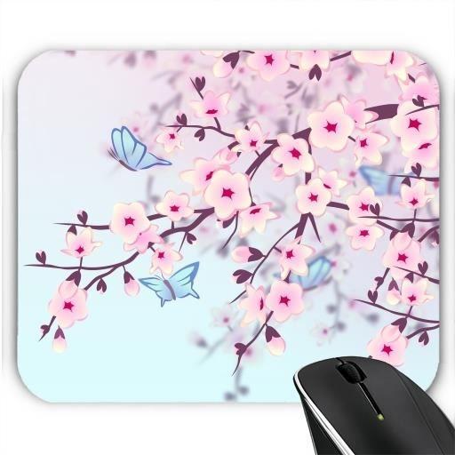 tapis de souris cerisiers en fleurs prix pas cher. Black Bedroom Furniture Sets. Home Design Ideas