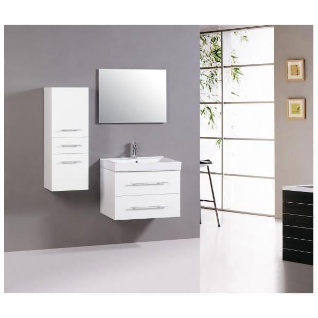 magnifique meuble salle de bain complet alpina blanc 1 vasque 1 miroir achat vente salle de. Black Bedroom Furniture Sets. Home Design Ideas