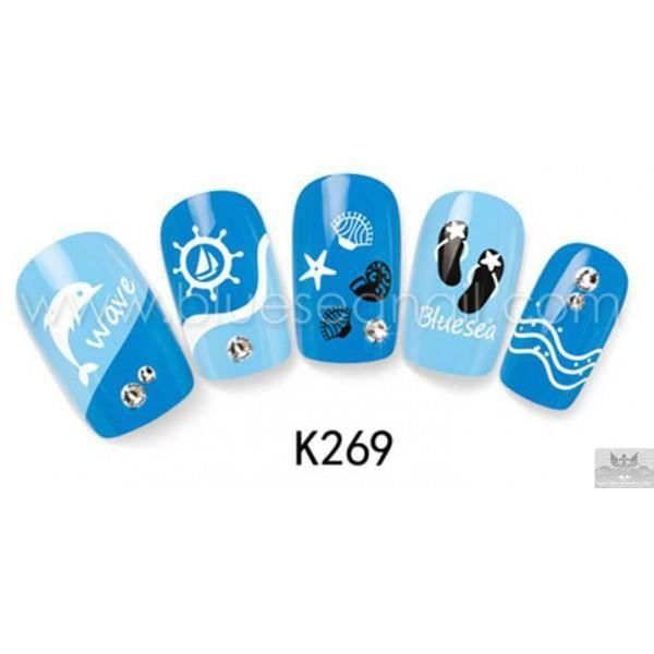 stickers d 39 ongles water decals nail art k269 achat vente stickers strass stickers d 39 ongles. Black Bedroom Furniture Sets. Home Design Ideas