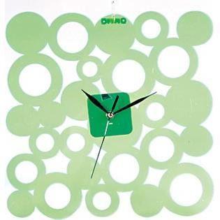 Horloge murale design carr e verte achat vente - Horloge murale carree ...
