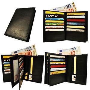 Portefeuille homme porte 20 carte visite photo noir gris achat vente portefeuille - Portefeuille porte carte homme ...