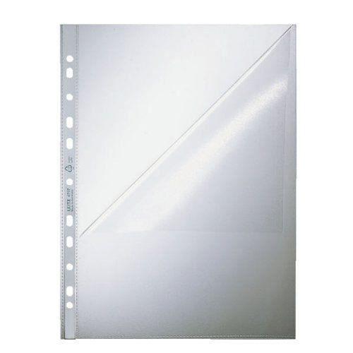Esselte leitz 47970000 lot de 100 pochettes perfor es - Pochettes plastiques transparentes ...