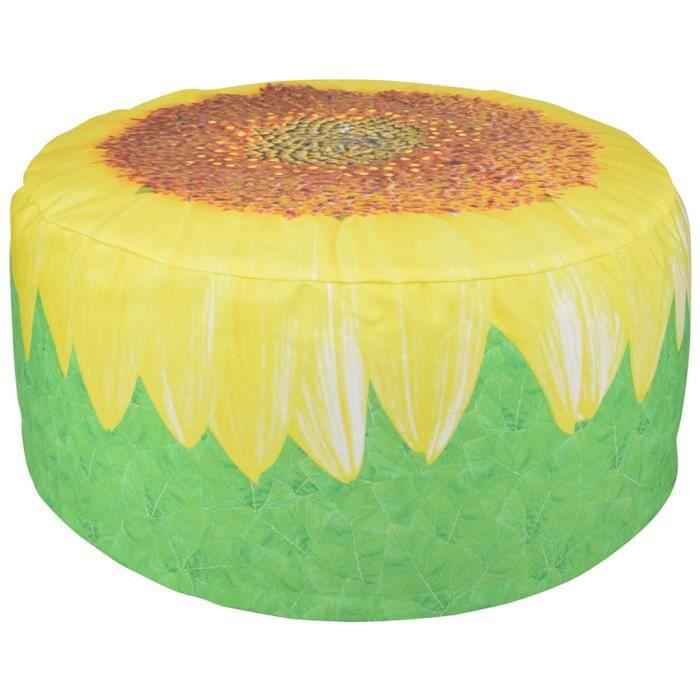 Esschert design pouf d 39 exterieur gonflable motif tournesol - Pouf gonflable exterieur ...