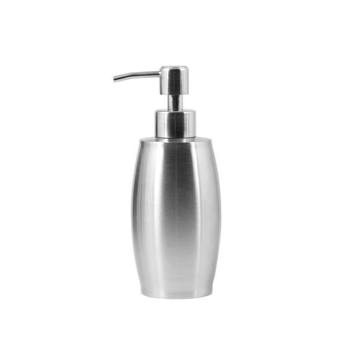 H h distributeur de savon inox cc375 emboutie meubles de for Distributeur salle de bain
