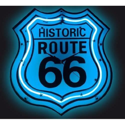 Pendule n on route 66 achat vente horloge les soldes for Decoration murale route 66