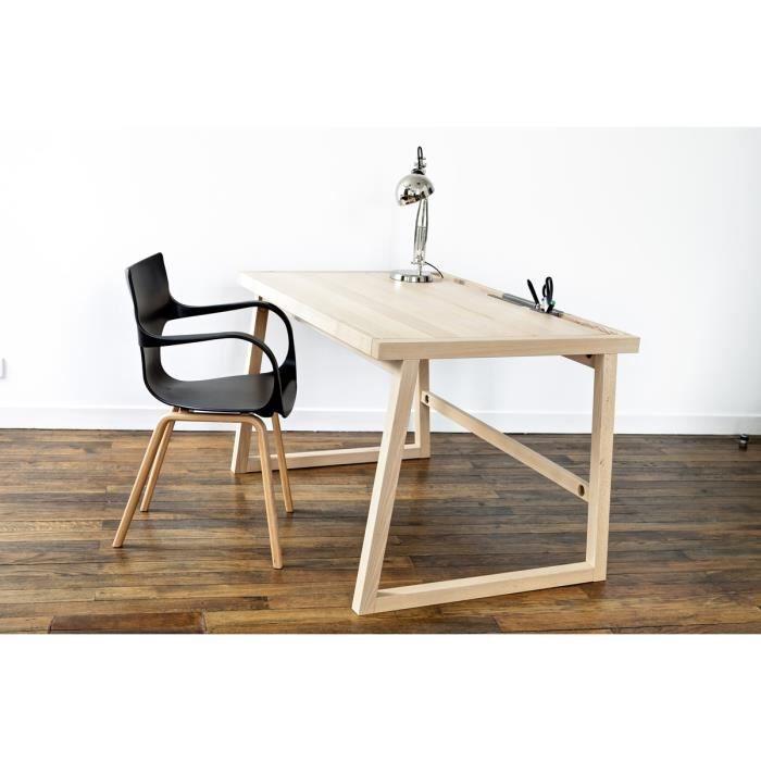 bureau 120 cm bois massif achat vente bureau bureau 120 cm bois massif cdiscount. Black Bedroom Furniture Sets. Home Design Ideas