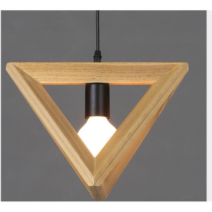 led lustre simple triangle des arts cr atifs bois personnalis achat vente led lustre simple. Black Bedroom Furniture Sets. Home Design Ideas