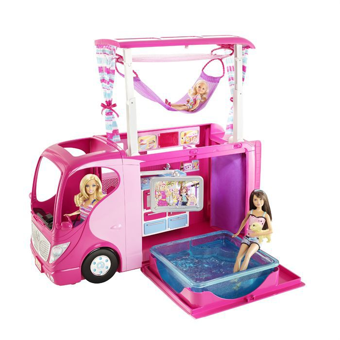 barbie camping car et ses accessoires achat vente poup e cdiscount. Black Bedroom Furniture Sets. Home Design Ideas