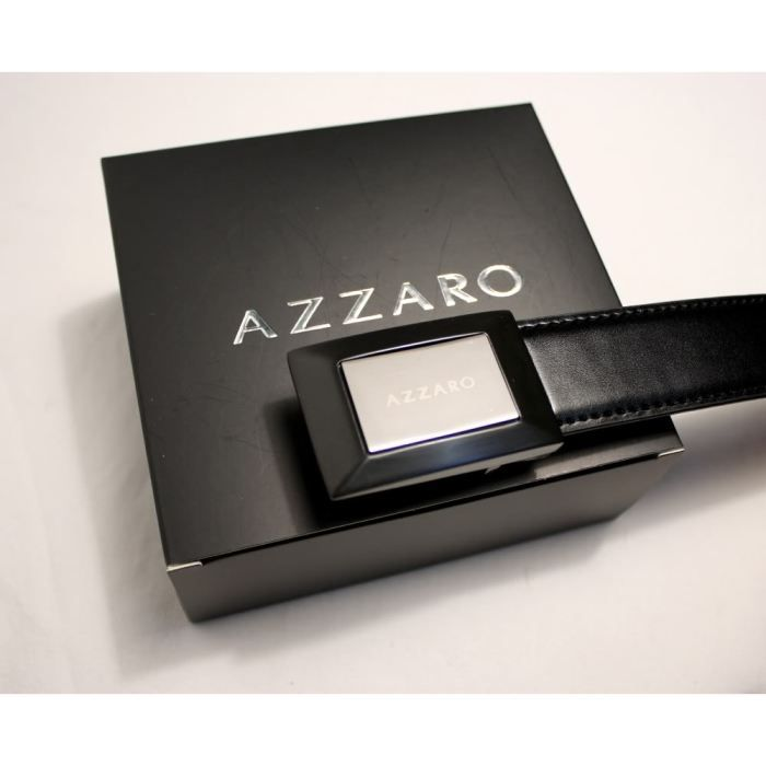 ceinture azzaro homme cuir boi noir achat vente. Black Bedroom Furniture Sets. Home Design Ideas