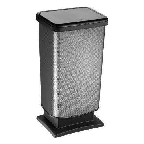 rotho paso 7542 poubelle p dale d cor carbone 40 l achat vente poubelle corbeille rotho. Black Bedroom Furniture Sets. Home Design Ideas