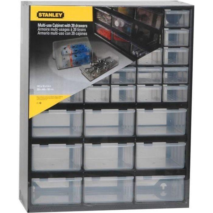 Stanley casier de rangement 39 compartiments vide achat vente boite a compartiment cdiscount for Rangement bricolage