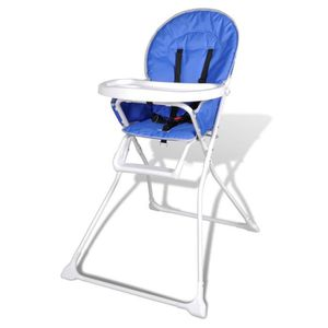 CHAISE HAUTE  Chaise haute de bébé bleue