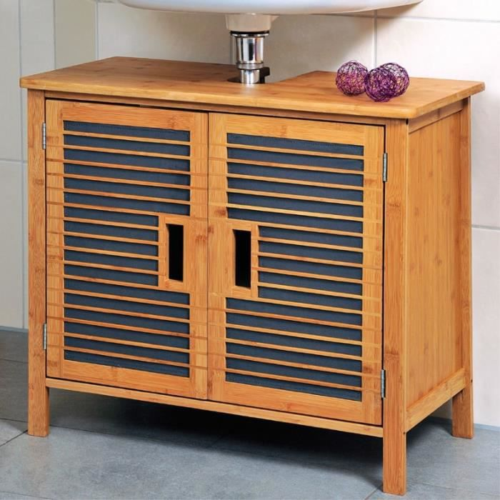 Meuble dessous d 39 vier bambou meuble de salle de bain for Meuble en bambou