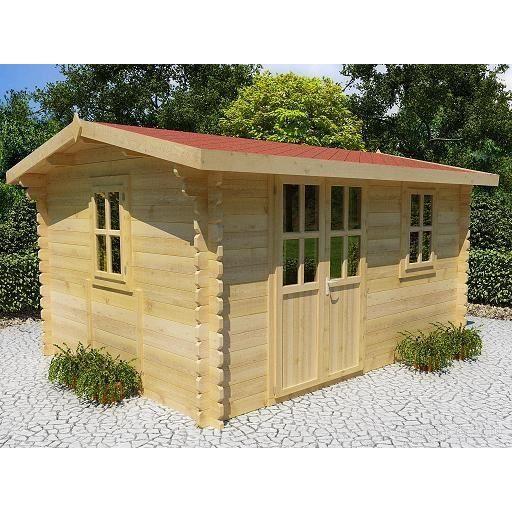 Abri de jardin 4x3 m paisseur 34 mm rumus achat for Achat abri de jardin