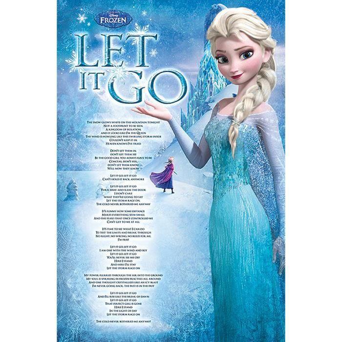Poster frozen let it go la reine elsa achat vente - La reine des neige en anglais ...