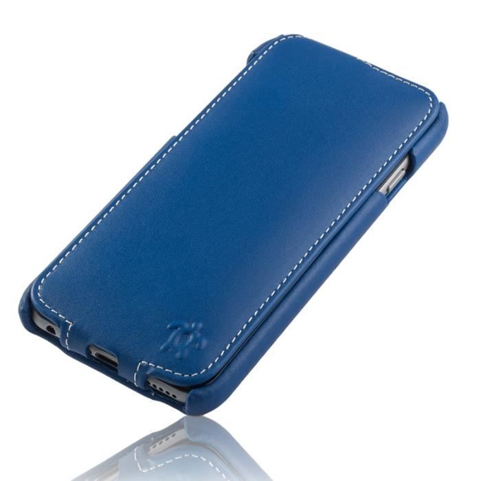 Housse pour iphone 6 4 7 cuir bleu royal col achat for Housse iphone 7 cuir