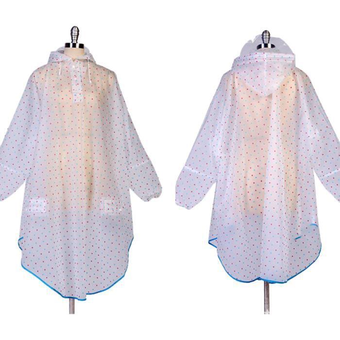k way femme poncho pluie capuche imperm able v tement de pluie transparent tr s chic mailanda. Black Bedroom Furniture Sets. Home Design Ideas