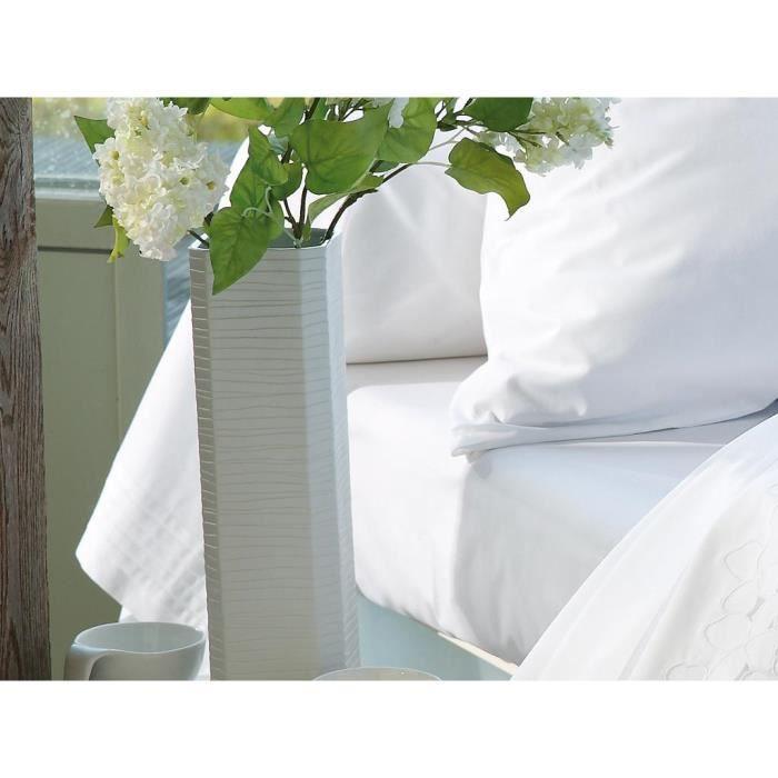 taie de traversin en coton percale 45x185 cm va achat. Black Bedroom Furniture Sets. Home Design Ideas