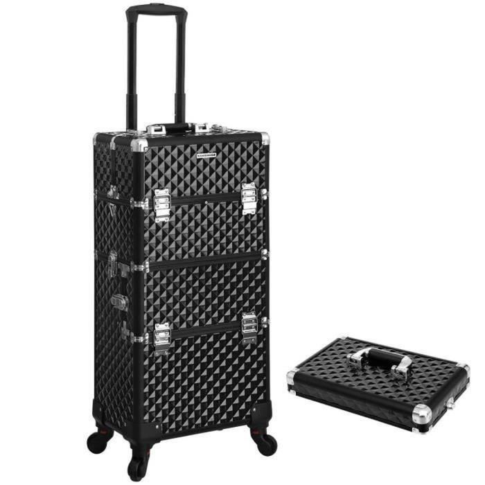 songmics beauty case trolley malette maquillage nail art. Black Bedroom Furniture Sets. Home Design Ideas