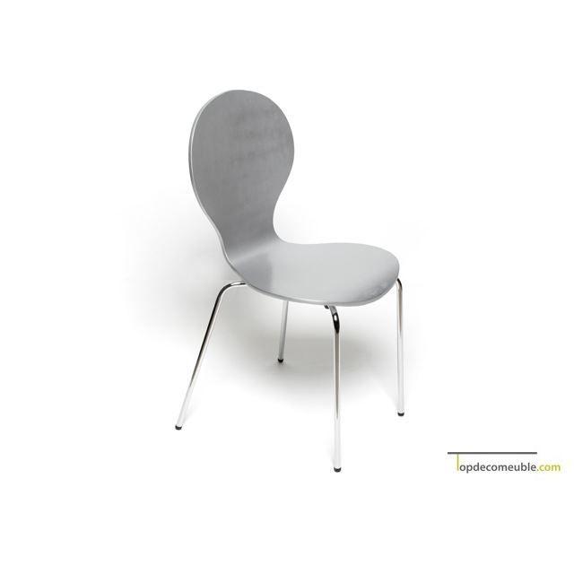 chaise de cuisine grise