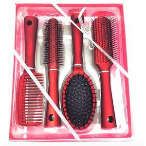 BROSSE - PEIGNE 4pcs Brosse à cheveux peigne Professionnel 15-20cm