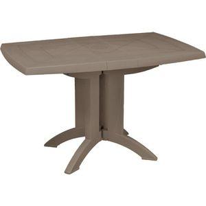 Table de jardin en plastique achat vente pas cher les soldes sur cdiscount cdiscount Table de jardin plastique taupe