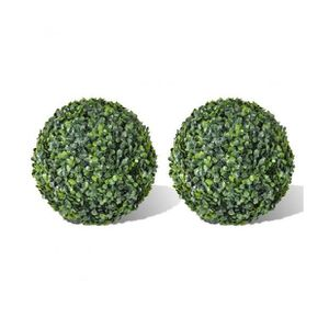 Superbe 2 pi ce de boule artificiel plante int rieur for Boule de buis artificiel pour exterieur