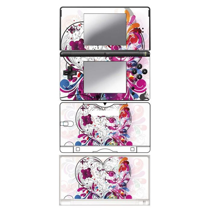 skin stickers pour nintendo ds lite sticker my valentine heart achat vente protection. Black Bedroom Furniture Sets. Home Design Ideas