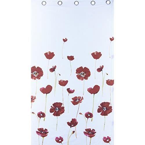 catherine lansfield rideaux motif coquelicots achat vente rideau les soldes sur cdiscount. Black Bedroom Furniture Sets. Home Design Ideas