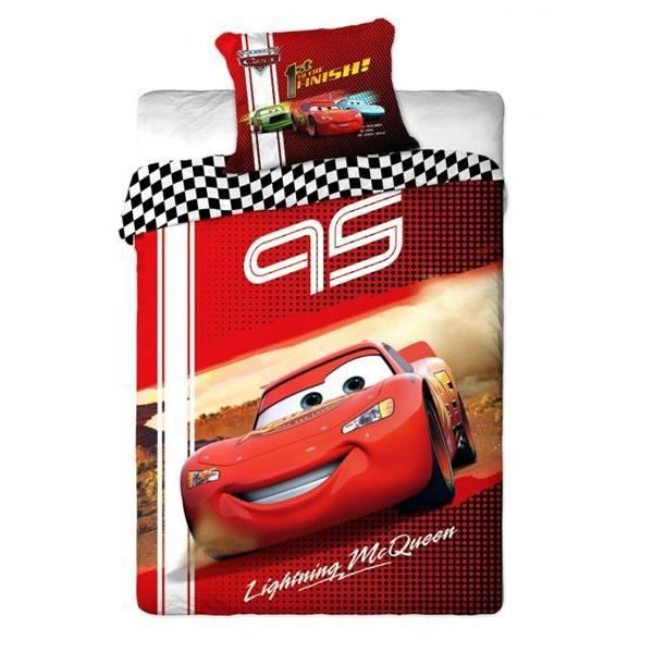 disney cars parure de lit flash mcqueen 140x2 achat. Black Bedroom Furniture Sets. Home Design Ideas