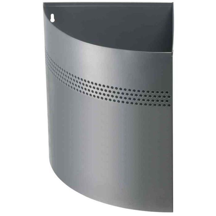 corbeille papier m tal d 39 angle 16l argent achat vente poubelle corbeille corbeille. Black Bedroom Furniture Sets. Home Design Ideas