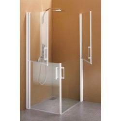 Paroi de douche 1 paroi fixe et 1 double porte achat for Montage paroi de douche