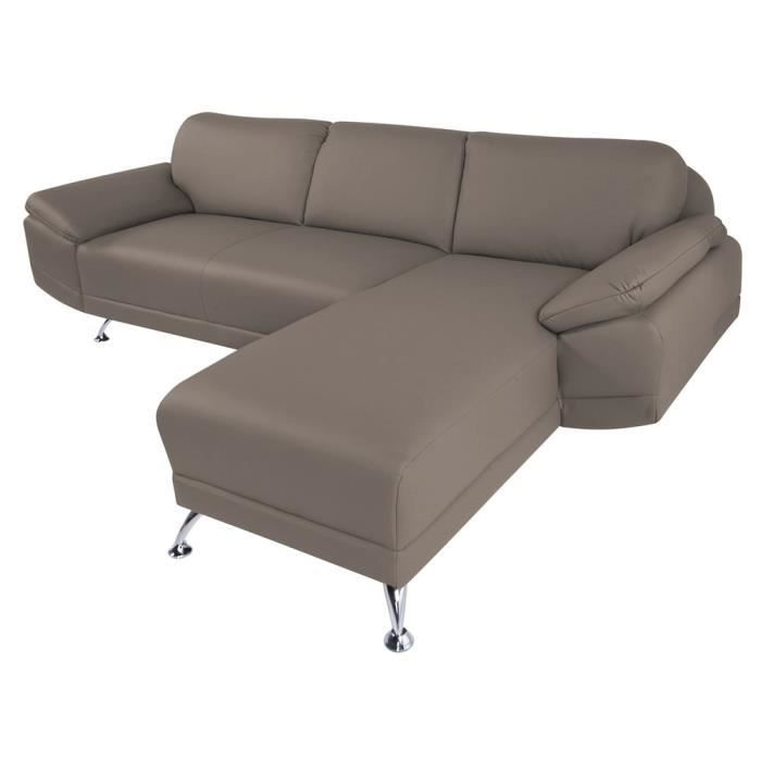 Canap d 39 angle droit switsofa city taupe achat vente for Canape d angle taupe