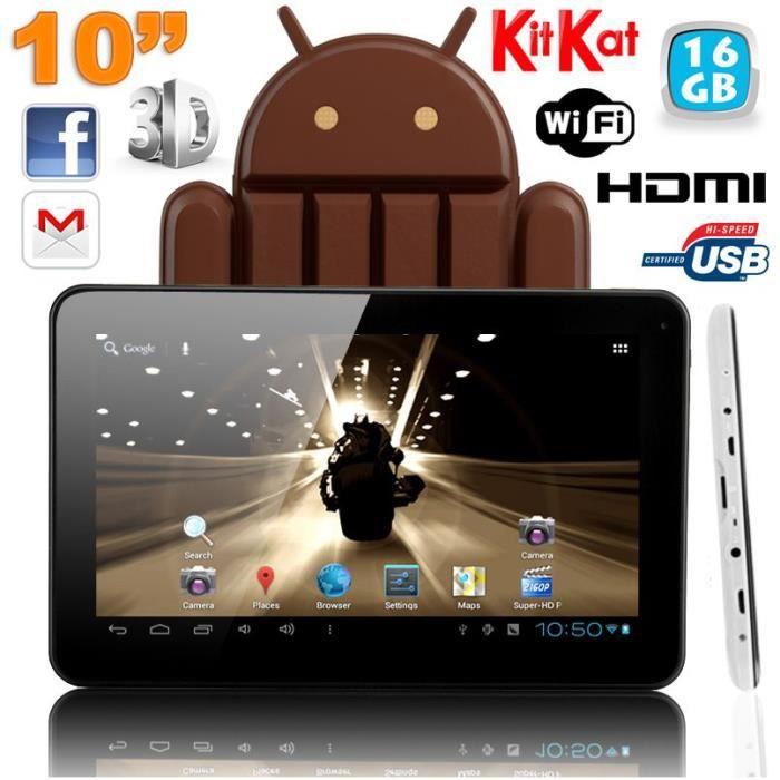 Tablette 10 pouces android kitkat quad core 16go prix - Tablette 16go 10 pouces ...